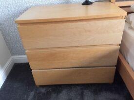 Ikea malm 3 drawer unit