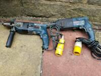 Bosch,GSB 20-2,GHB 24 DFR, 110v hammer drills, 2 £40