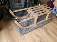 Wooden antique Sledge