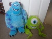 DISNEY: 2 x Large Monsters Inc / University Soft Toys
