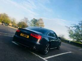 RARE ONE OFF FACELIFT AUDI A6 S6 BLACK EDITION FLAT BOTTOM STEERING RS6 ALLOYS LOW MILEAGE 4 EXHAUST