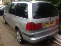 2004 SEAT ALHAMBRA STYLANCE 1.9 TDI. 130 BHO. 7 SEATER. SPARES OR REPAIRS. STARTS AND DRIVE