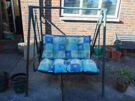 Conservatory / Garden Swinging Seat with Cushions