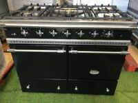 Lacanche Cluny Range cooker Double oven black and chrome luxury kitchen