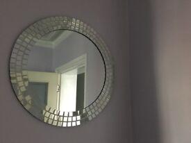 Round Glass Mosaic Wall Mirror