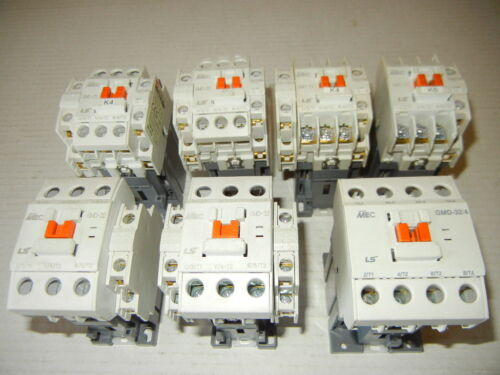 LS Contactor GMD-9, GMD-32, 3 Pole 240/380/440 & GMD-32/4 Coil DC24V Used 7 Pcs.