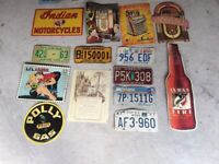 Cafe pub man cave shed signs american license plates, great to display