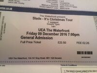 4 Tickets Slade Its Christmas Tour in Norwich Friday 9/12/16