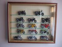 Triumph motorbike modles including frame.