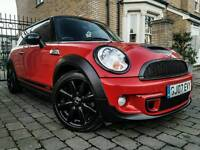 MINI COOPER S 1.6 (2007) ***ATTENTION GRABBER - RED LEATHERS - RARE LOOKING BARGAIN*** 1 YEARS MOT