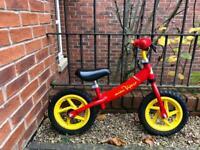 Balance bike. Red