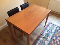 6 Seater wood veneer dining table