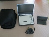 "Goodmans Portable DVD player with carry case and adapter GDVD80W8 8"" widescreen"