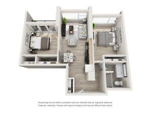Beautiful 2 bedroom + 2 bath apartment in heart of Halifax