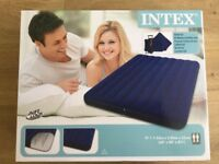Intex Downy Inflatable Queen AirBed Set Pump And Two Pillows