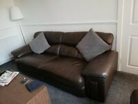 Great deal £100 three seater and chair leather