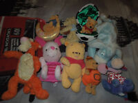 Selection of Winnie the Pooh and friends toys