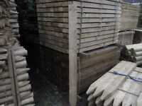 Timber pointed fence post 125mmx75mmx1.8m