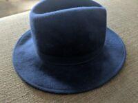 Navy blue felt hat