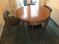 Lovely Vintage G Plan table, chairs and sideboard