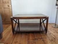 Solid Oak Wooden Coffee Table