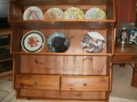 COUNTRY KITCHEN PINE PLATE RACK