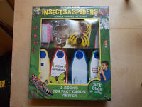 Insects and Spiders books and Fact cards viewer