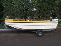 14' Dory fishing boat Ready to go fishing Honda 15 hp 4stroke Main and Yamaha 4hp 2 stroke spare