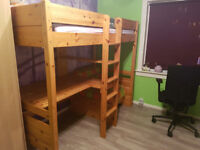 Wooden high sleeper for sale!!
