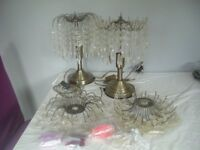 2 x Teardrop Lamps, and matching ceiling pendants
