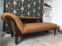 Victorian mahogany chaise lounge