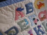 ABC nursery baby childs cot bed quilt