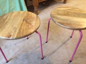 Oliver Bonas Two Side Tables / Stools