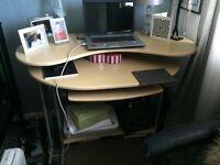 Beech desk/ corner desk