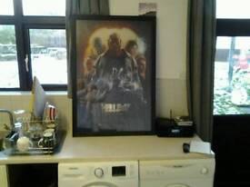 Framed Hellboy poster