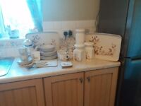 Marks and Spencer Harvest dining set with jars and trays etc