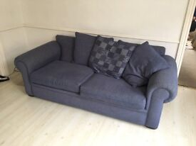 Large blue sofa - almost new