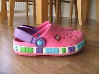 Lego Crocs Clogs, UK size 3, pink