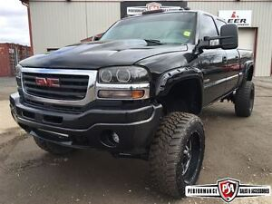 2005 GMC SIERRA 2500HD SLT LIFTED DURAMAX DIESEL!!