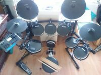 Alesis DM10 Studio with 5 toms, Mapex double bass pedals and various extras! £560