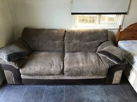 Fabric 2 seater sofa £20