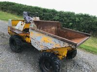 Thwaites 2 ton dumper electric start no vat