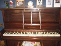 Mahogany brown Mickleburgh upright piano