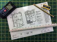 Architectural drawings for planning and building regulations.