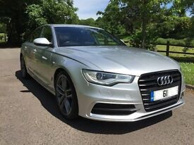 2011 61 AUDI A6 2.0 TDi S-LINE BLACK EDITION * FACTORY EXTRAS * SILVER * 6-Speed Manual