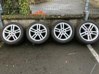 """Genuine 18"""" Audi alloys in good condition with tyres"""