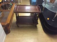 Mahogany drinks trolley