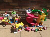 Fisher price little people garage car wash pirate ship great condition £55 ono