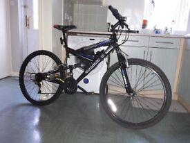 full suspension mountain bike... small.