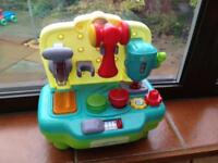 Mini toy work bench